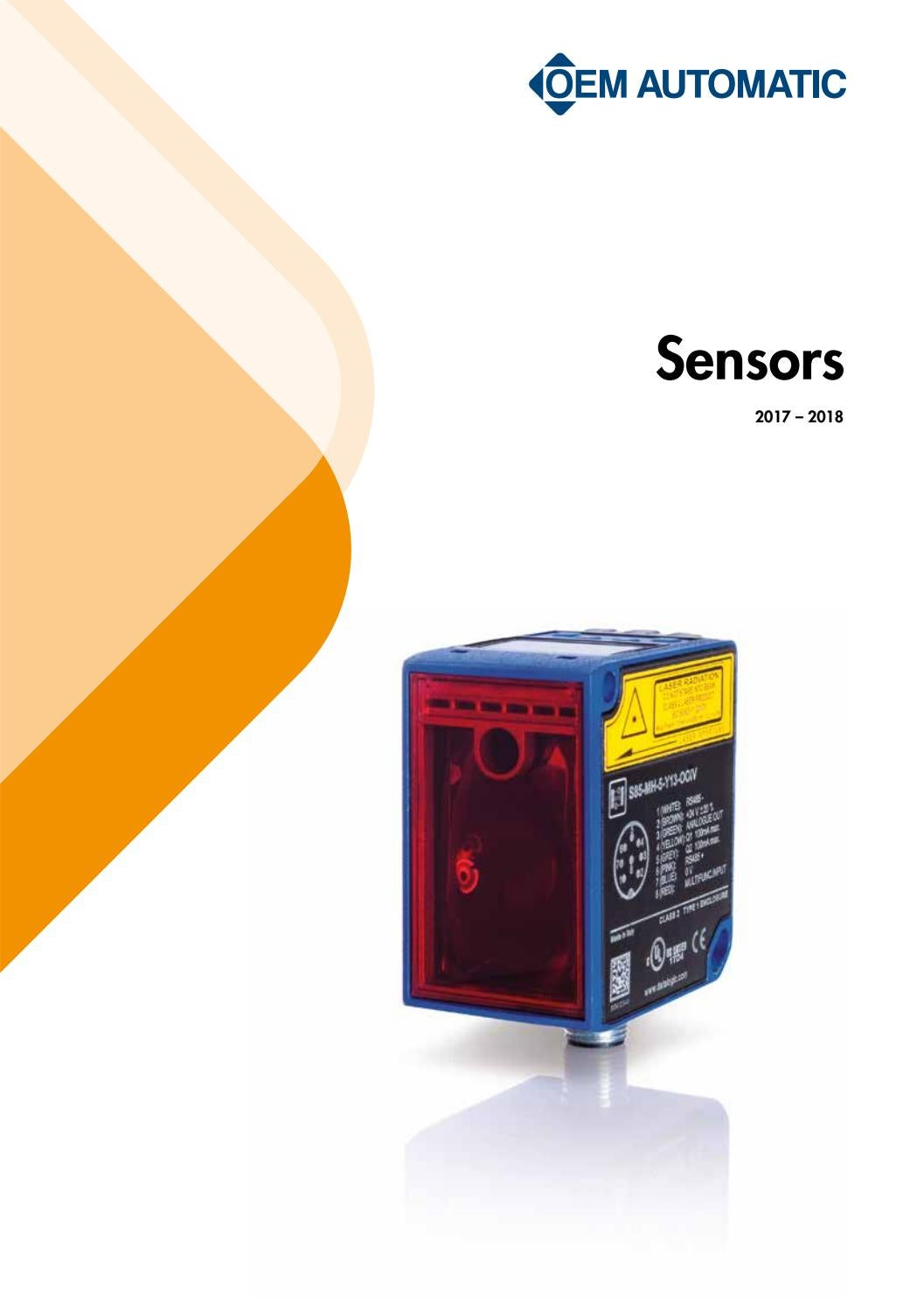 Machine And Safety Sensors 2017 2018 By Oem International Issuu Wire Configurations Are 2wire 3wire Npn Pnp 4wire