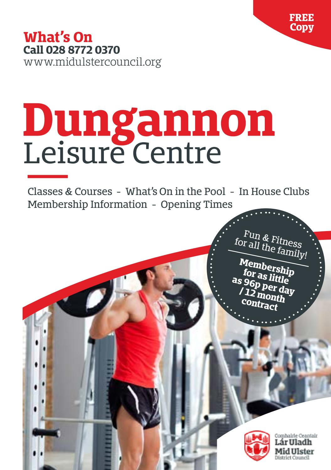 Dungannon leisure centre activity programme jan mar 2017 - Dungannon swimming pool opening hours ...