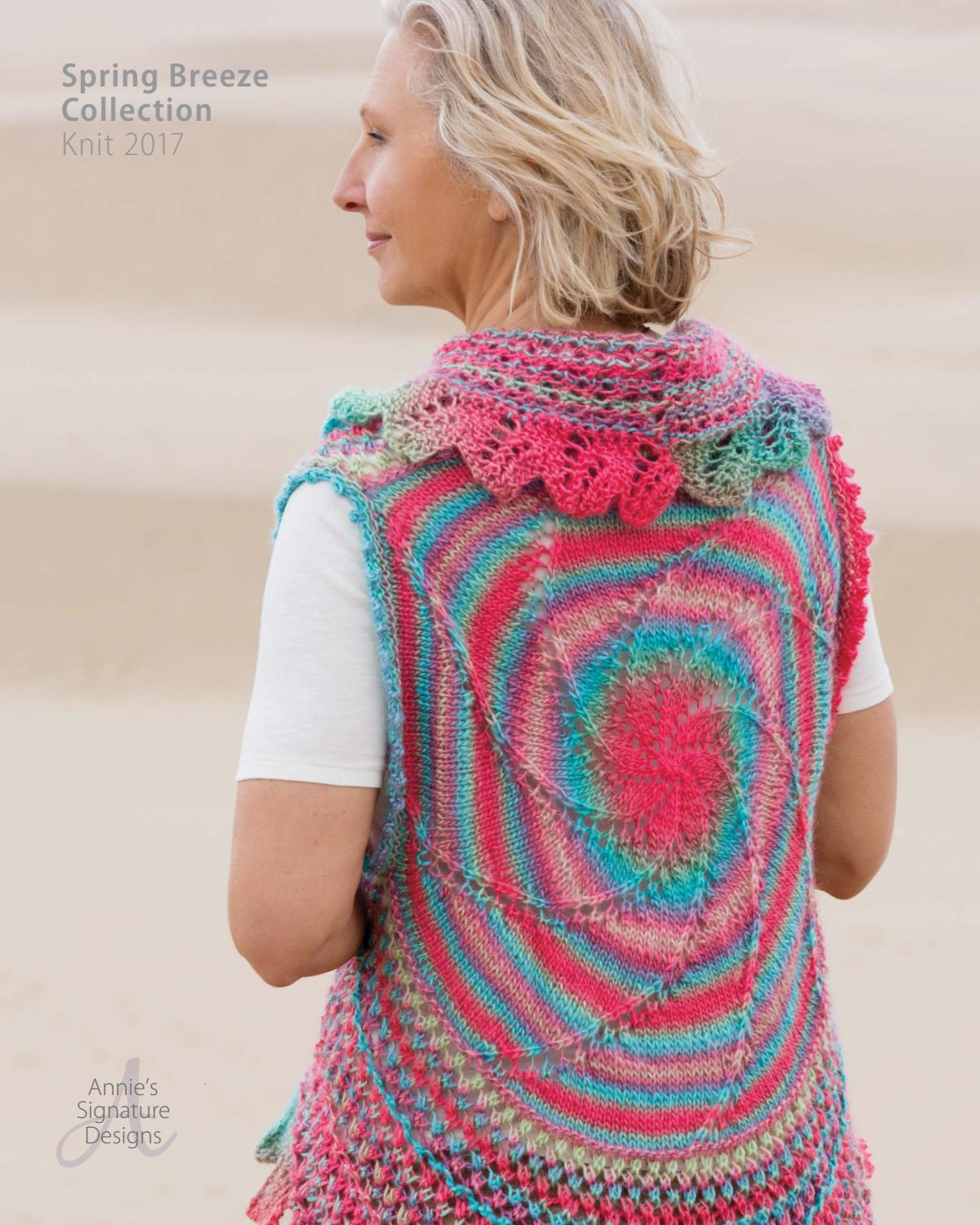 Annie\'s Spring Breeze Knit Pattern Collection 2017 by Annie\'s - issuu