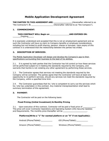Mobile Application Development Agreement By Eli Wheaton  Issuu