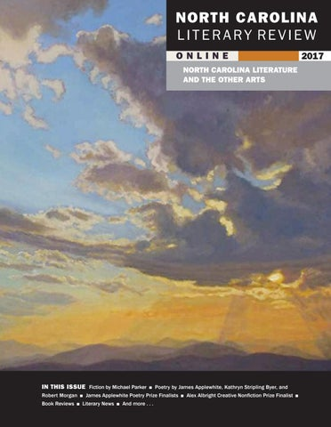 North Carolina Literary Review Online 2017 By East Carolina