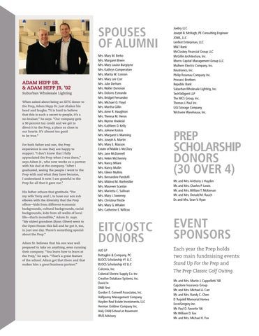2017 16 Annual Report Of Donors By St Joseph S Preparatory