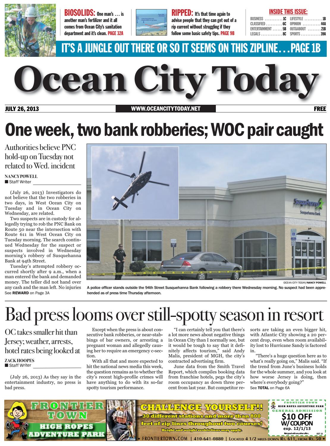 Ocean City Today 7 26 13 By Issuu Wiring Money Pnc
