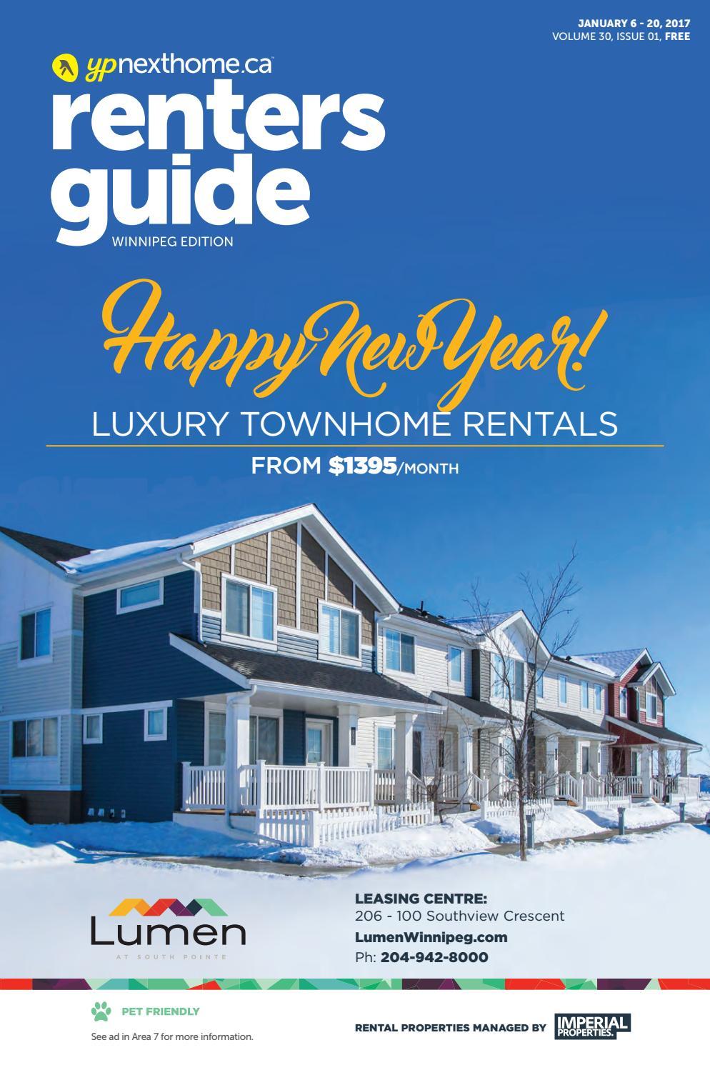 WINNIPEG Renters Guide - 06 Jan, 2017 by NextHome - issuu