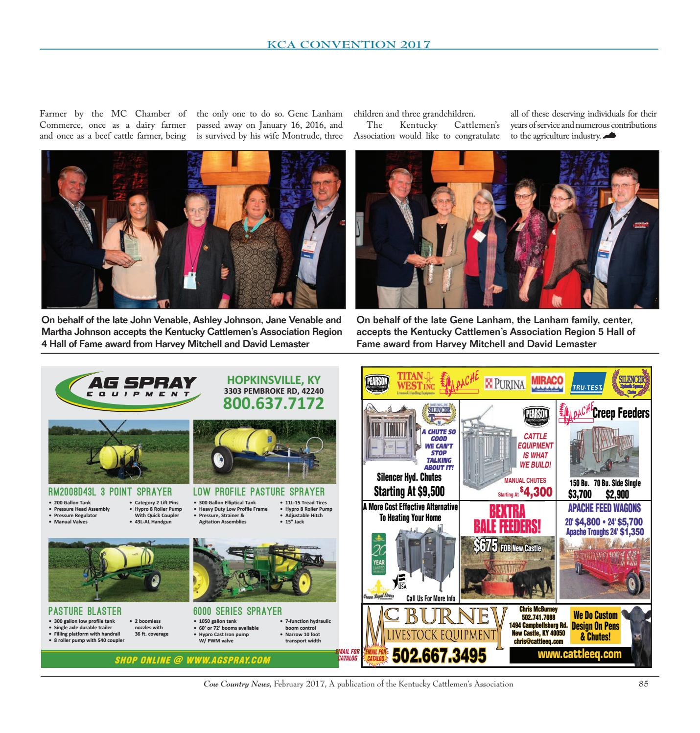 Cow Country News - February 2017 by The Kentucky Cattlemen's
