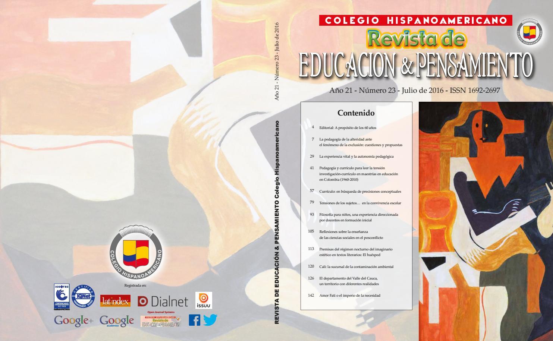 Revista Educación y Pensamiento V23 by Colegio Hispanoamericano - issuu