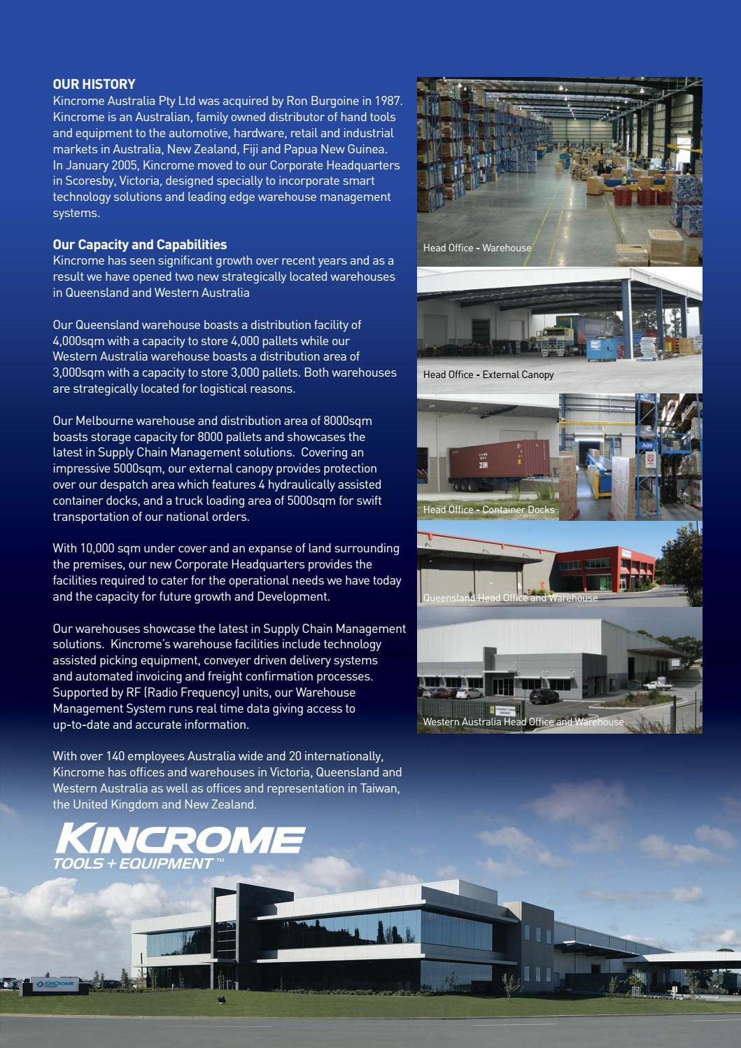 Kincrome // 2017 Product Guide by BJ Howes Metaland Group