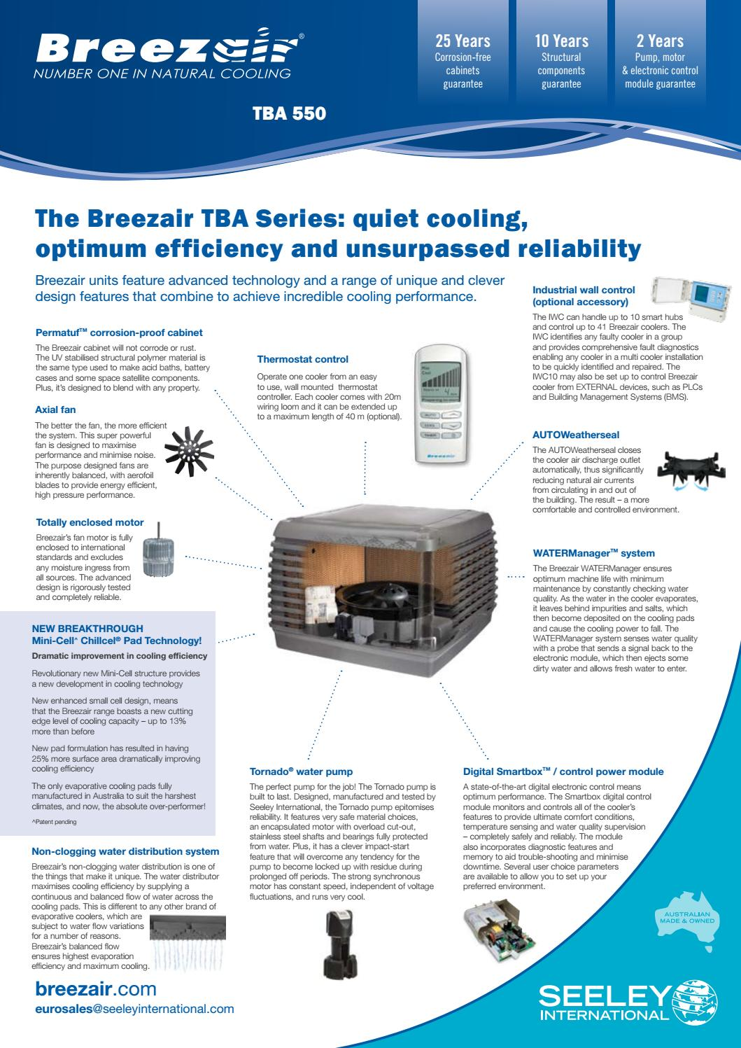Breezair Tba Series Cooler : Breezair europe tba by seeley international issuu