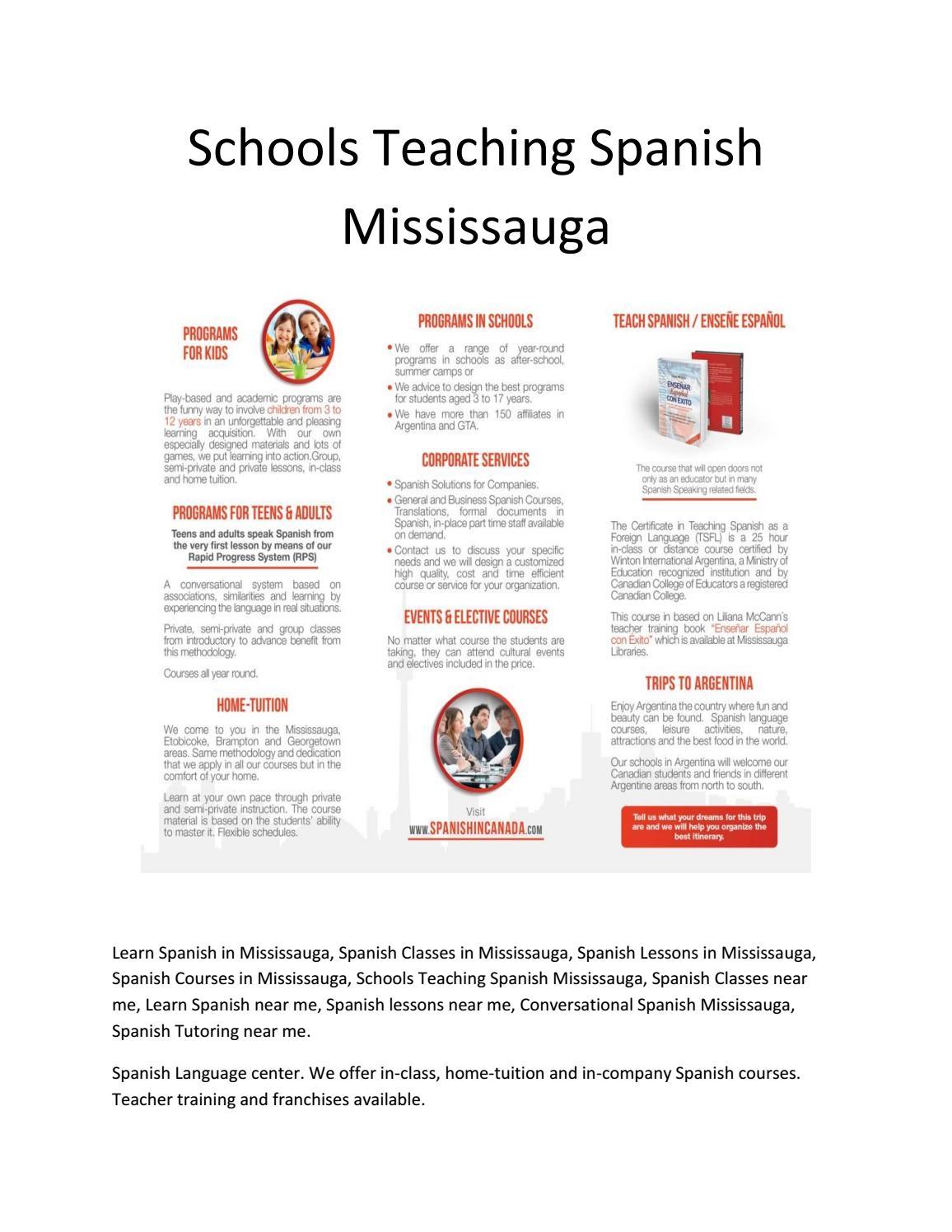 Schools teaching spanish mississauga by Liliana McCan - issuu