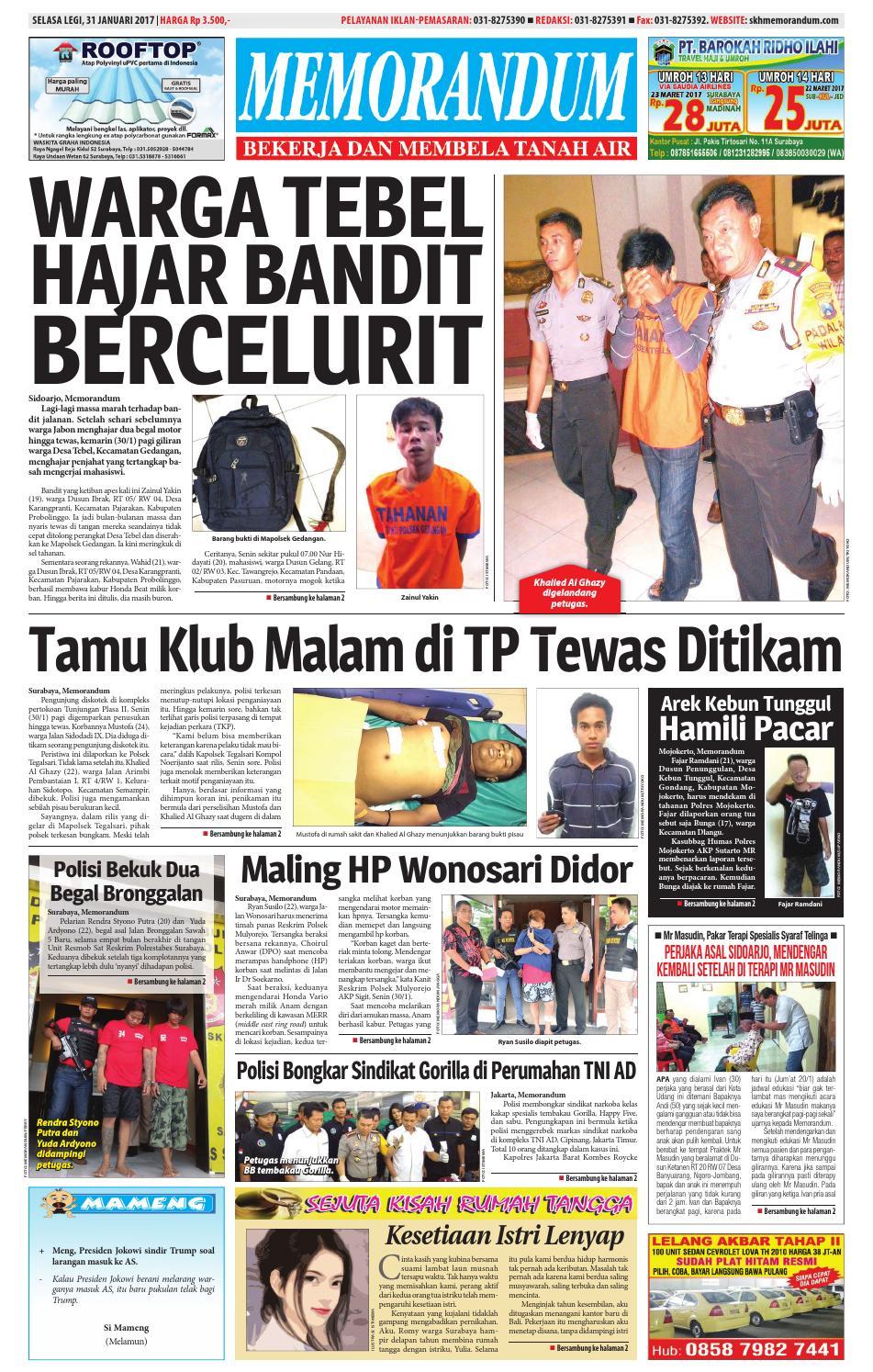Memorandum Edisi 31 Januari 2017 By Issuu Fcenter Meja Belajar Sd Hk 9004 Sh Jawa Tengah