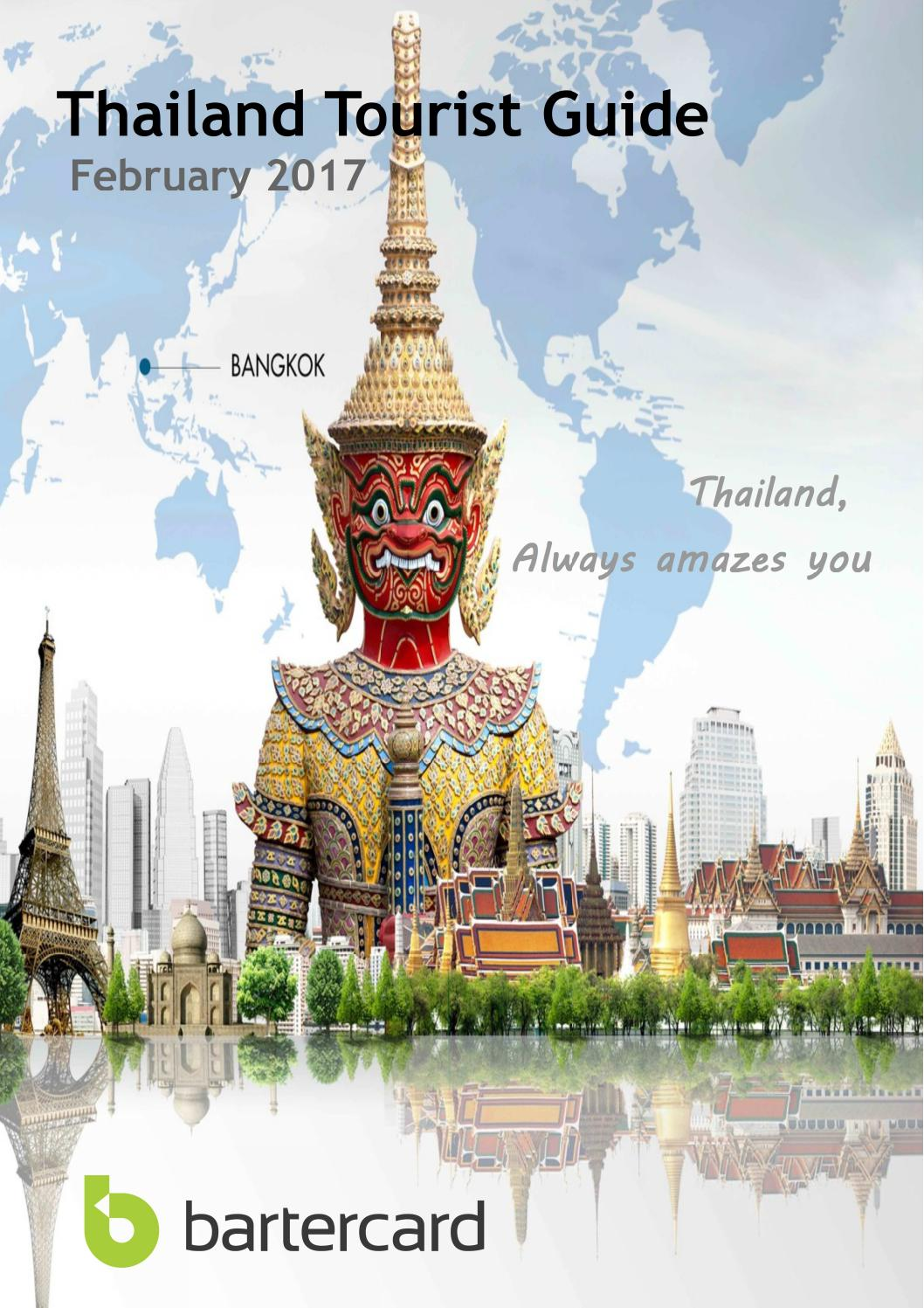 Thailand travel guide February 2017 by Bartercard Thailand