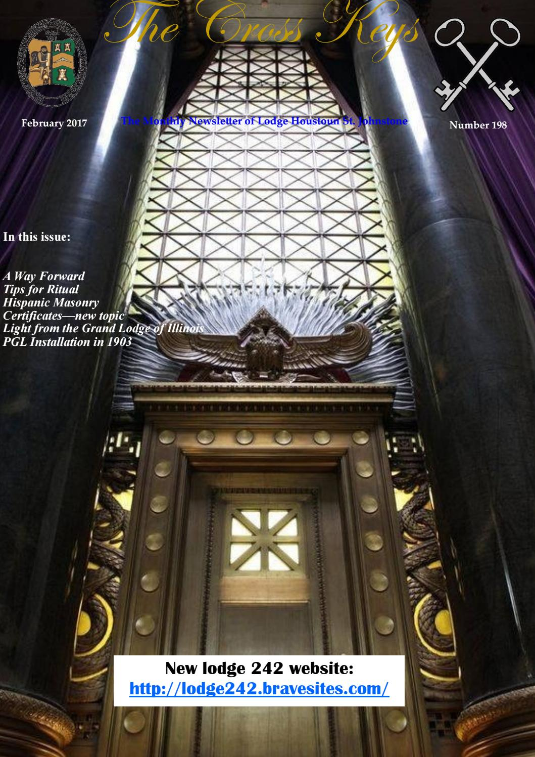 Cross Keys February 2017 (Freemasonry) by Neil Grant Macleod