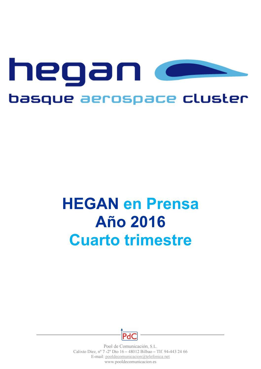 Hegan en prensa cuarto trimestre 2016 by Pool de Comunicación, SL ...