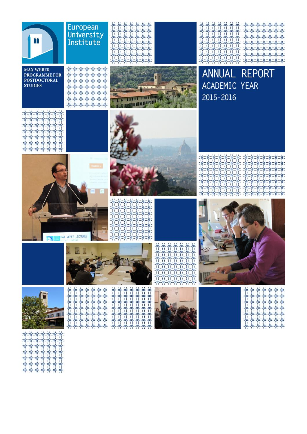 Max Weber Programme Annual Report on 2015/16 by European University ...