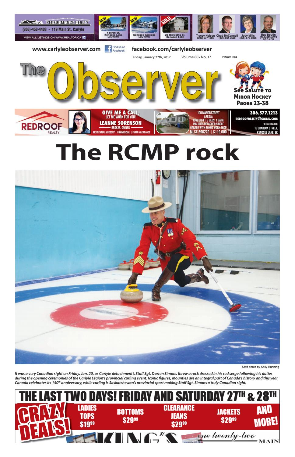 Carlyle Observer: Jan. 27, 2017 by Carlyle Observer - issuu