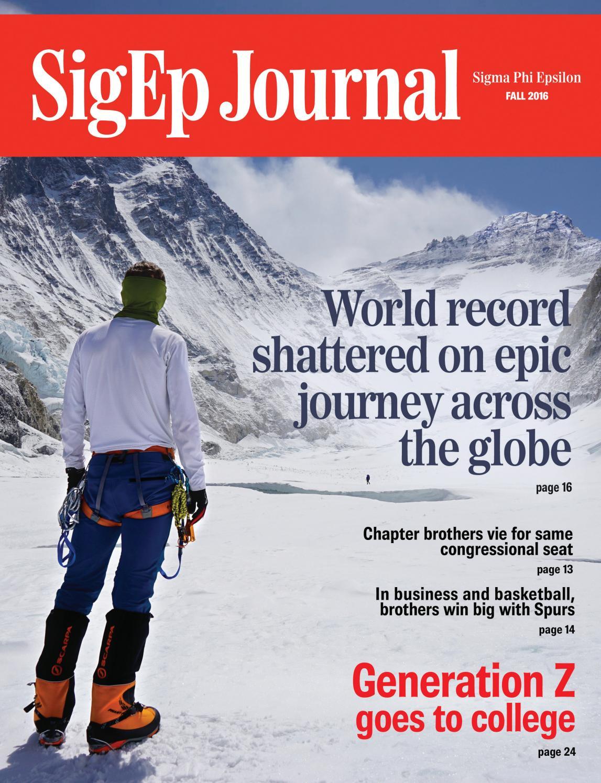 Sigep journal fall 2014 by sigma phi epsilon issuu sigep journal fall 2016 biocorpaavc Gallery