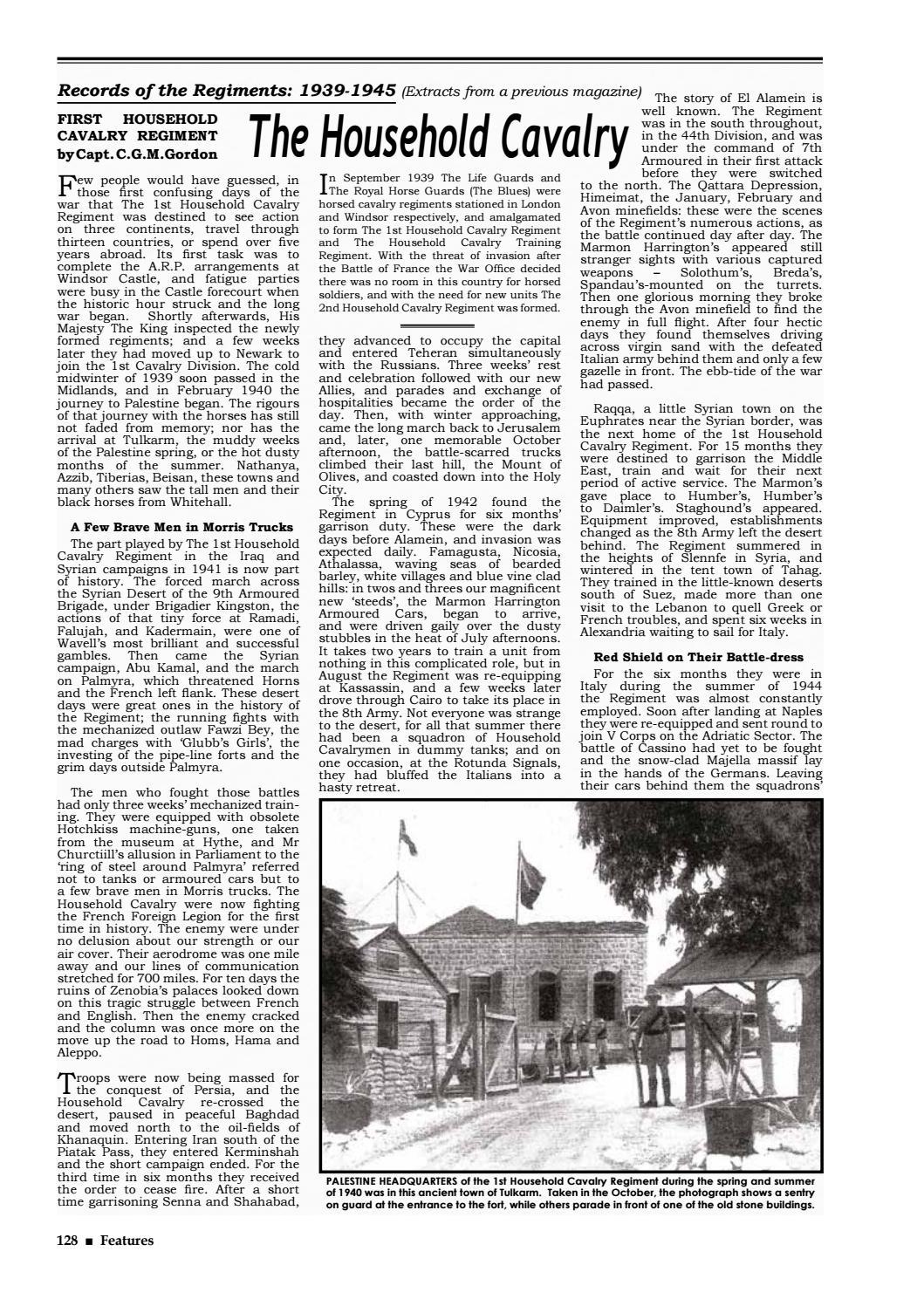 Household Cavalry Journal 2009/10 by RHG/D Reg Sec - issuu