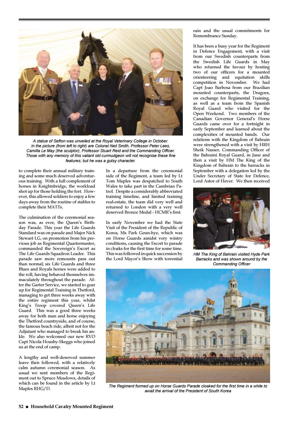 Household Cavalry Journal 2013 by RHG/D Reg Sec - issuu