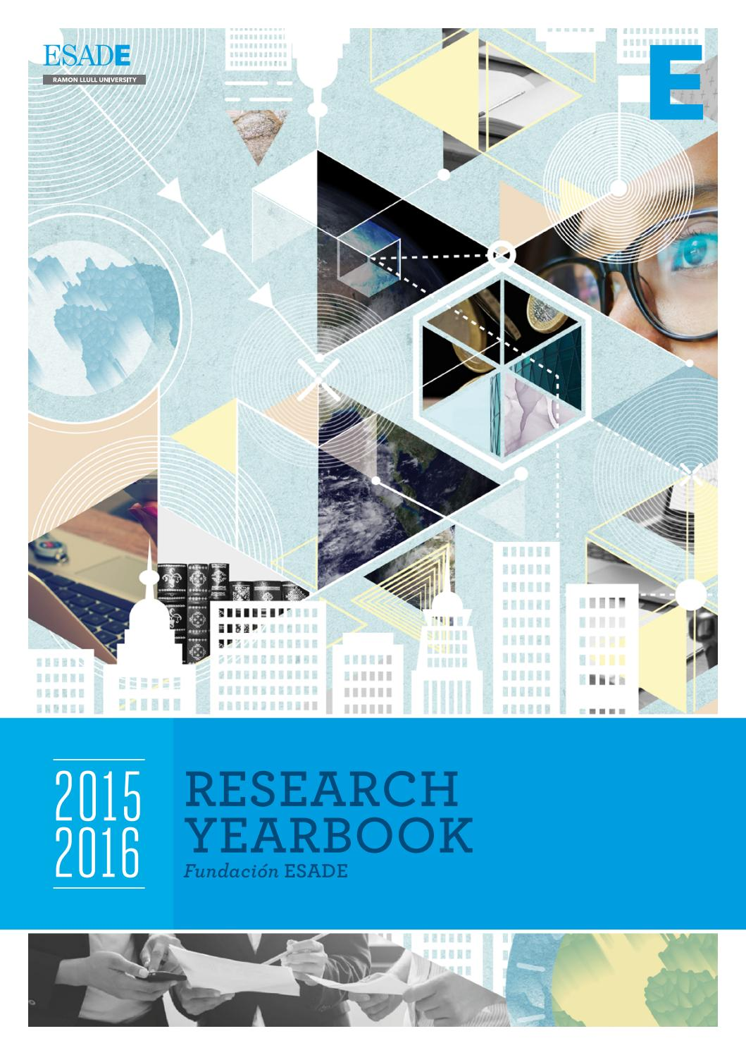 Esade Research Yearbook 2015 16 By Issuu Website Profesor Jos Luis Crdenas Ingeniero Ejecucin En Sonido
