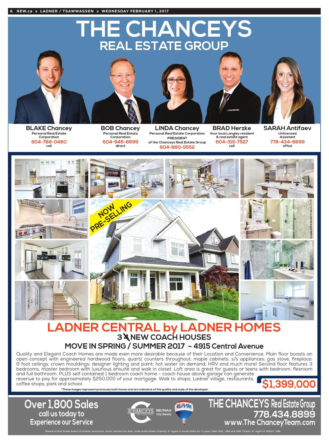 LADNER / TSAWWASSEN Feb 1, 2017 Real Estate Weekly by Real