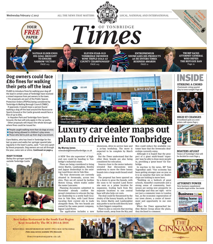 Times of Tonbridge 1st February 2017 by One Media - issuu