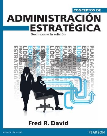 Conceptos de administracion estrategica 14edi david by gia agu issuu page 1 fandeluxe Gallery