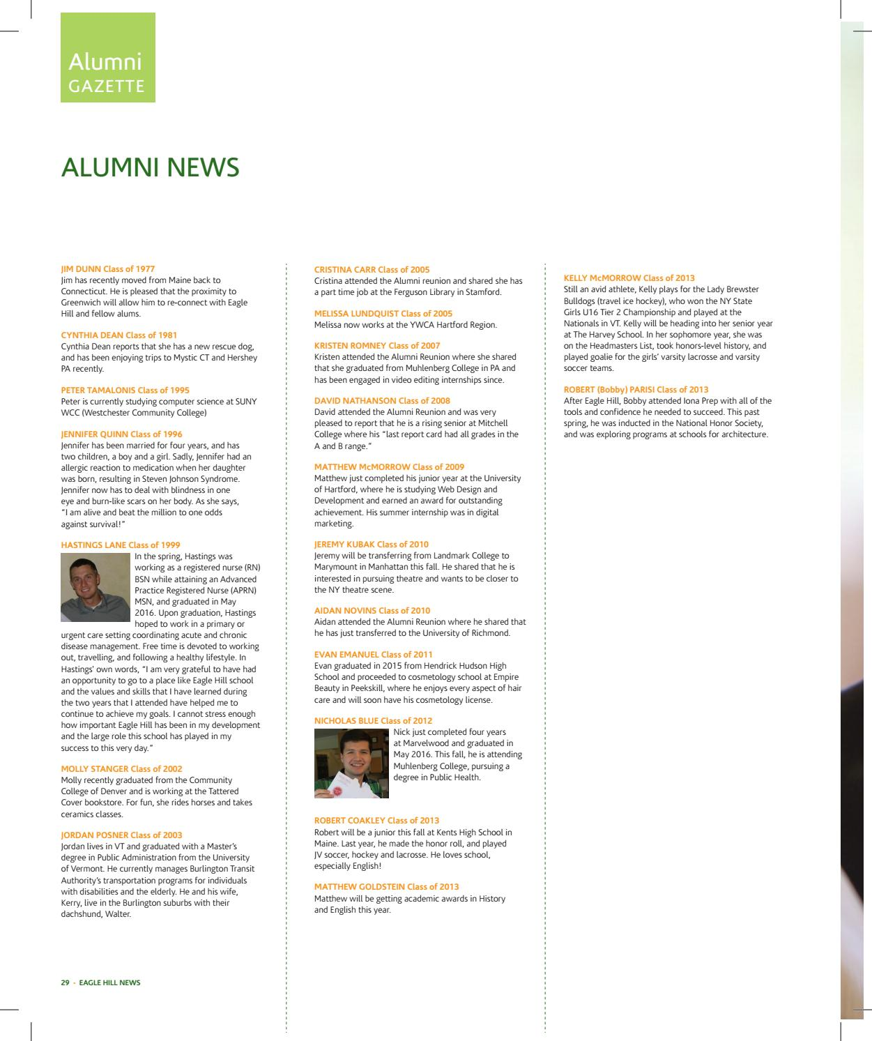 Eagle Hill News Fall 2016 By Eagle Hill School Issuu