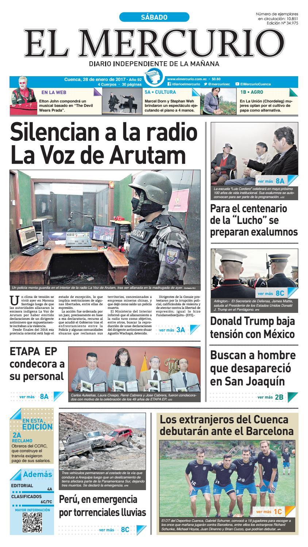 hemeroteca 28-01-2017 by Diario El Mercurio Cuenca - issuu