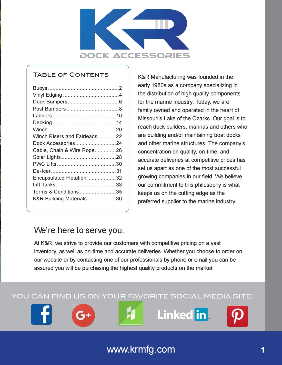 K R Dock Accessories Catalog Volume 16 By K R Issuu