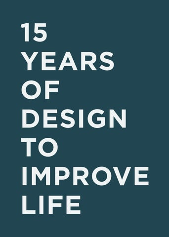 15 Years of Design to Improve Life by The Index Project - issuu