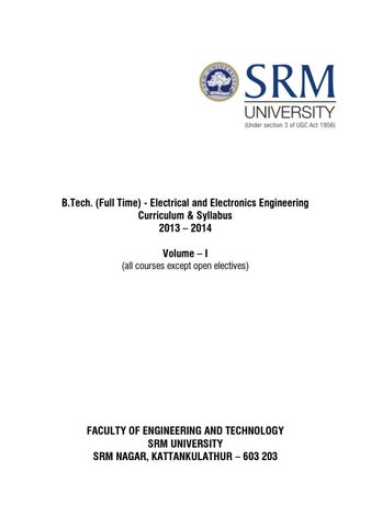 Btech Syllabus EEE 2013 14 By EEEA Notes