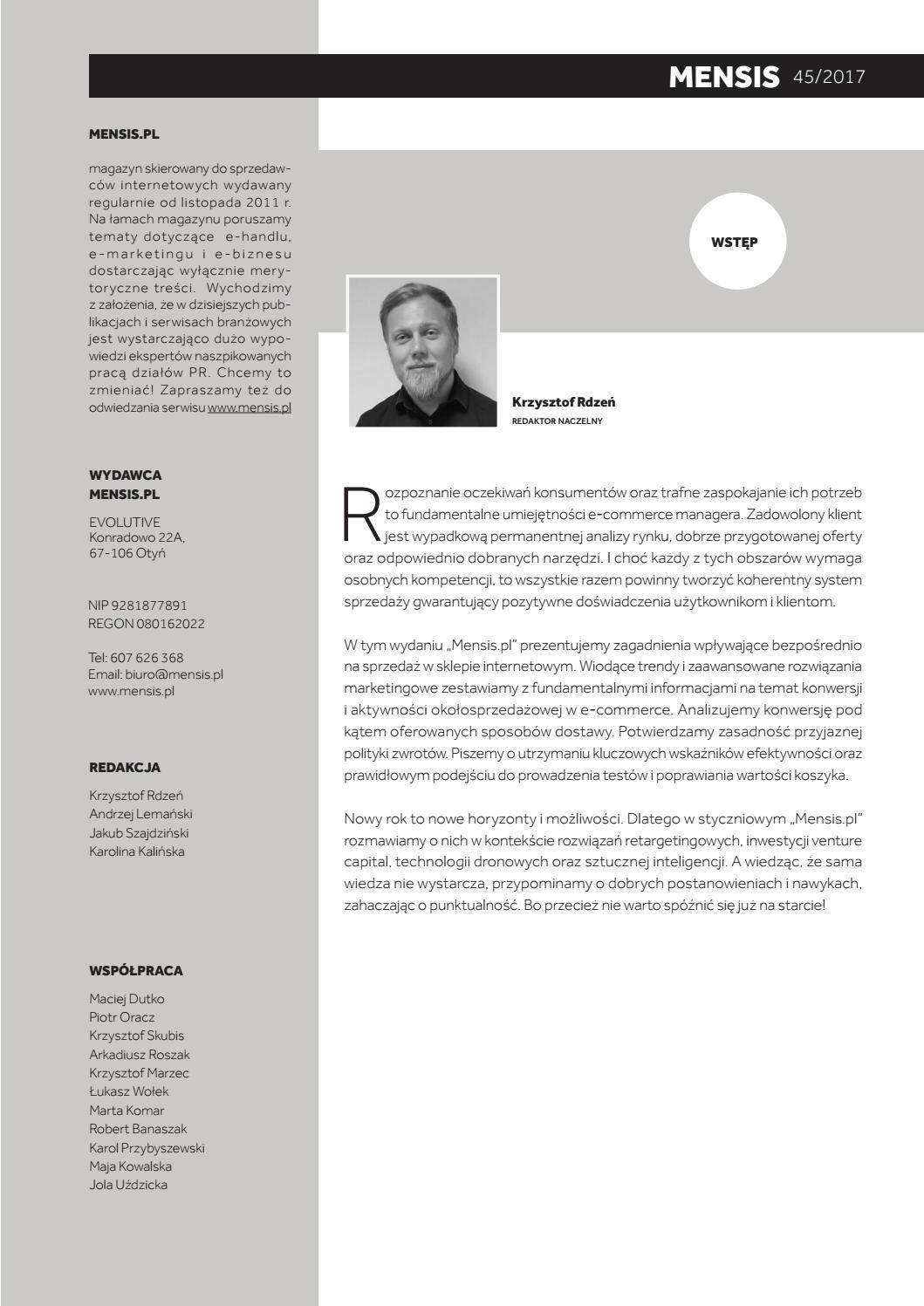 a938f084b74305 Mensis.pl - magazyn e-commerce nr 45 by Krzysztof Rdzeń - issuu