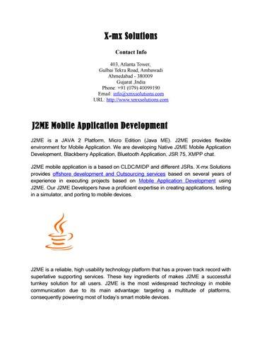 J2ME Mobile Application Development | X-mx Solutions by XMX