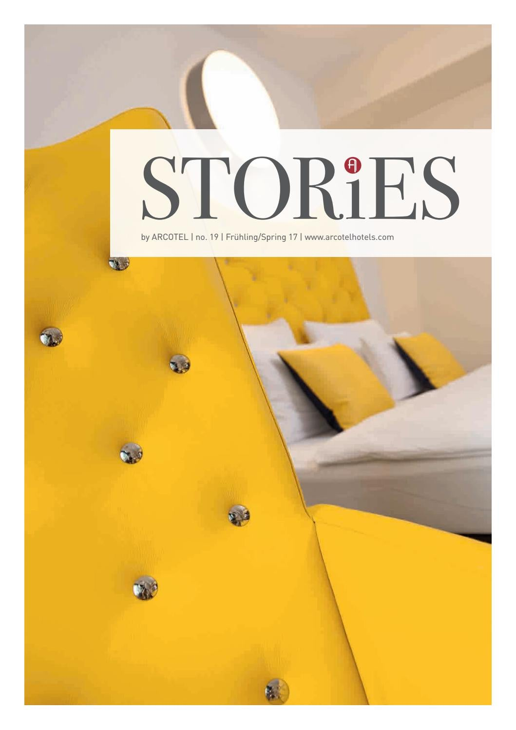 STORiES by ARCOTEL Frühling 2017 by ARCOTEL Hotels - issuu