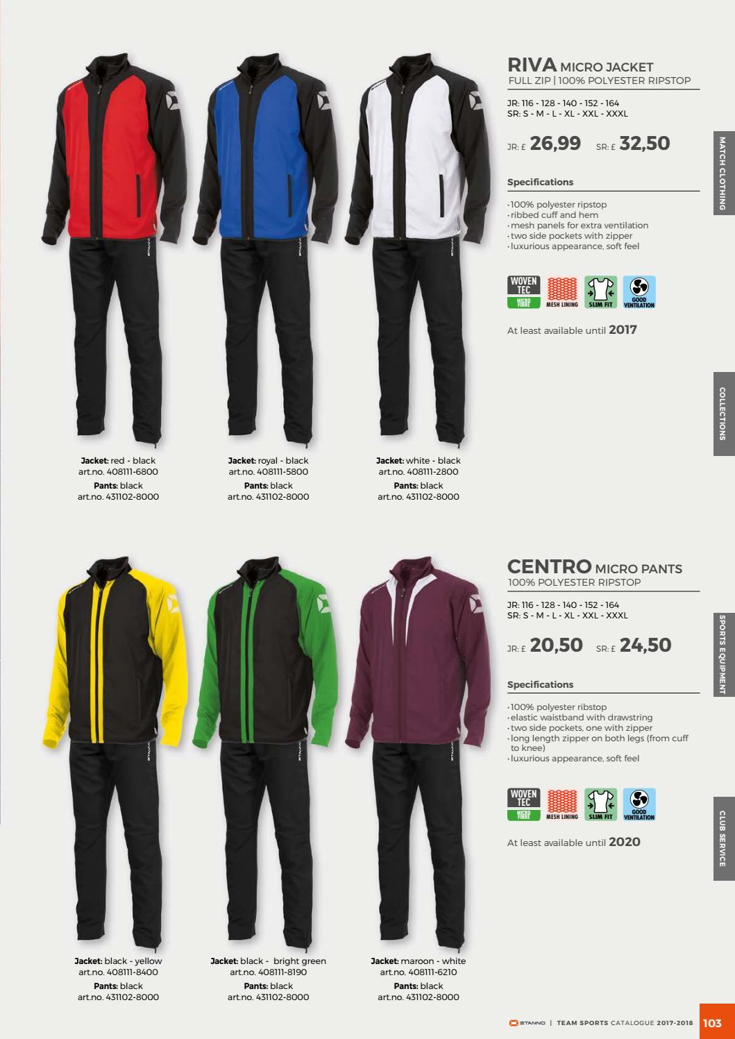 Stanno Riva Polyester Jacke black-bright green