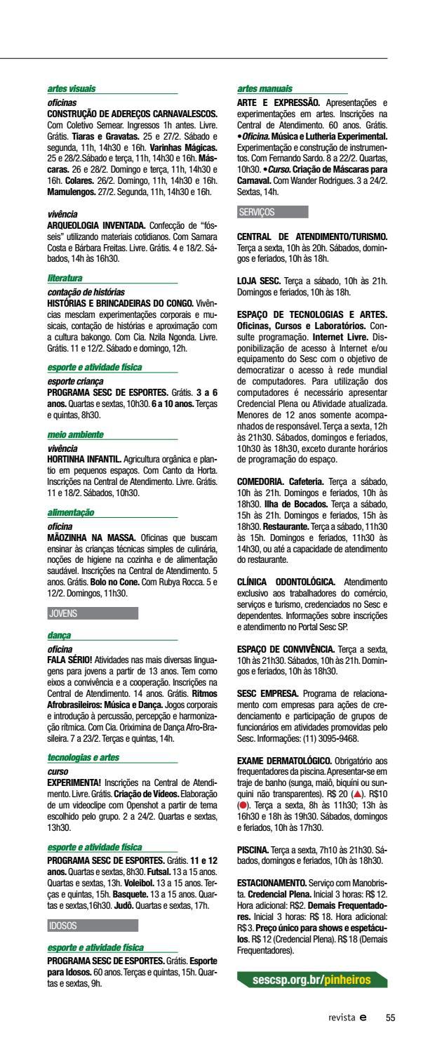 7265a398c Revista Em Cartaz | Fevereiro 2017 by Sesc em São Paulo - issuu