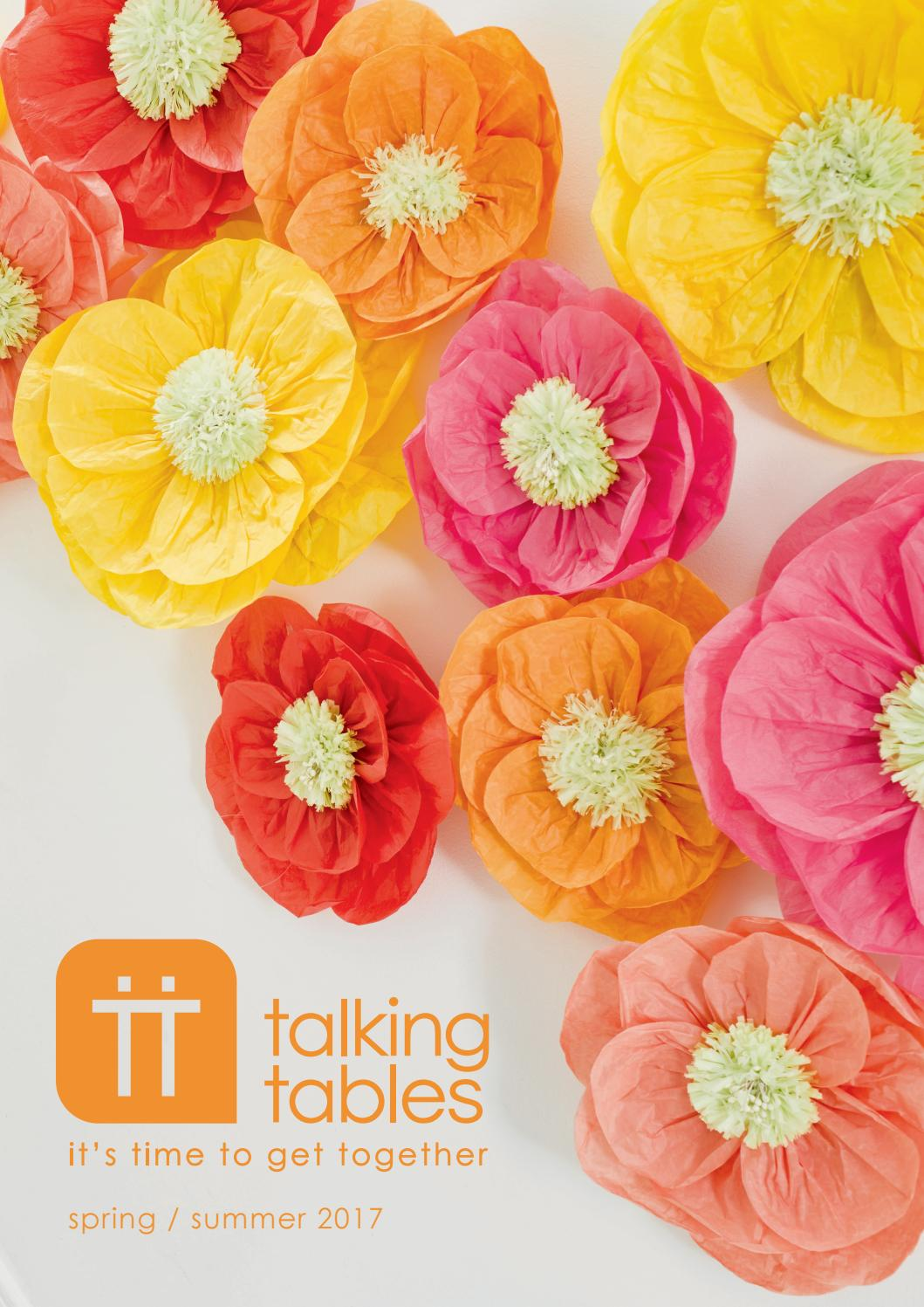 40 Pack Talking Tables Blossom /& Brogues Floral Paper Napkins for a Wedding or Tea Party Multicolor