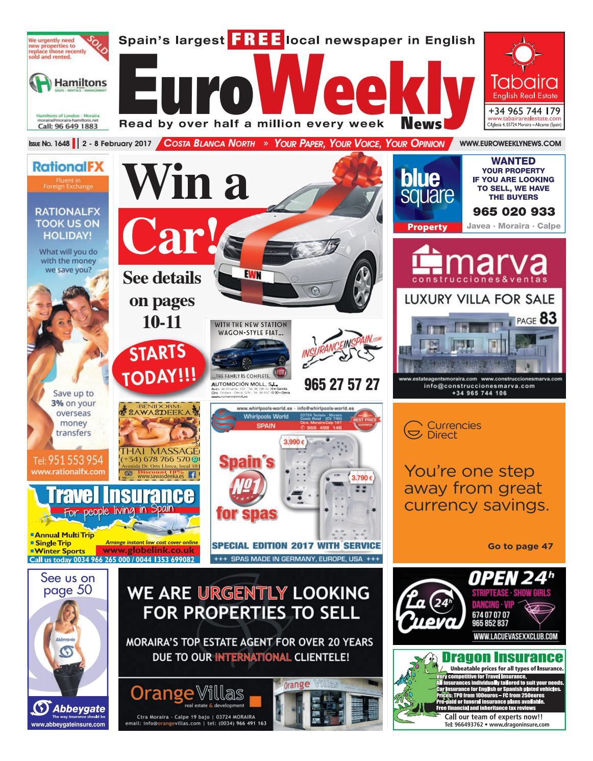Amanecer Porn Family euro weekly news - costa blanca north 2 - 8 february 2017
