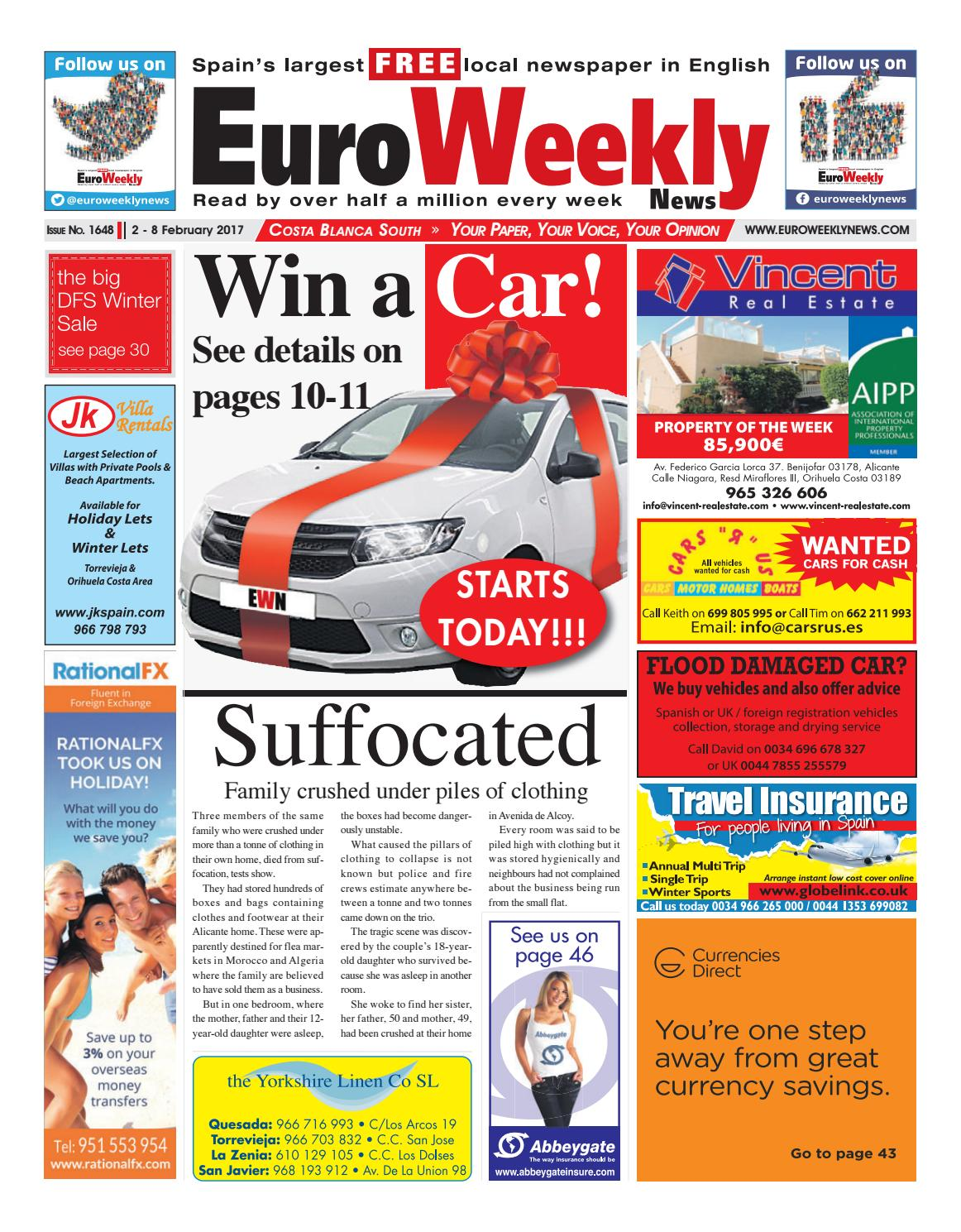 Euro weekly news costa blanca south 2 8 february 2017 issue 1648 euro weekly news costa blanca south 2 8 february 2017 issue 1648 by euro weekly news media sa issuu fandeluxe Choice Image