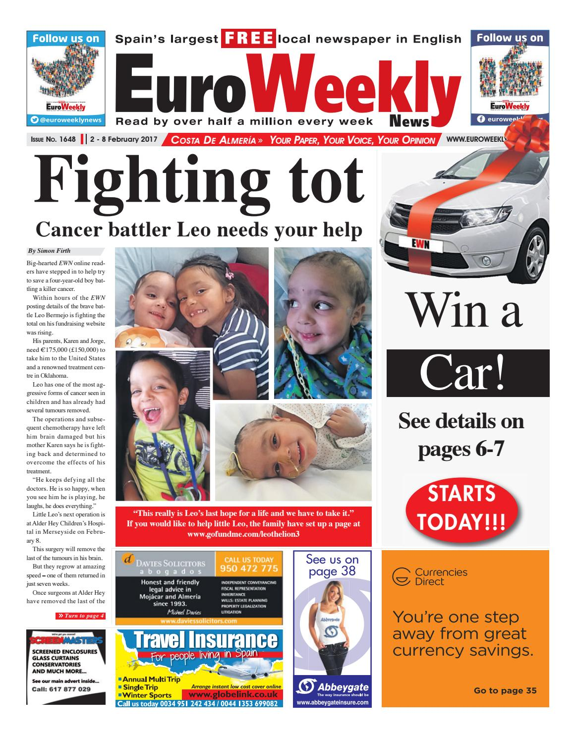 Euro Weekly News - Costa de Almeria 2 - 8 February 2017 Issue 1648 ... d3f2b8ddd7ca5
