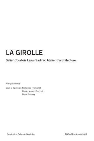 LA GIROLLE Salier Courtois Lajus Sadirac Atelier Darchitecture