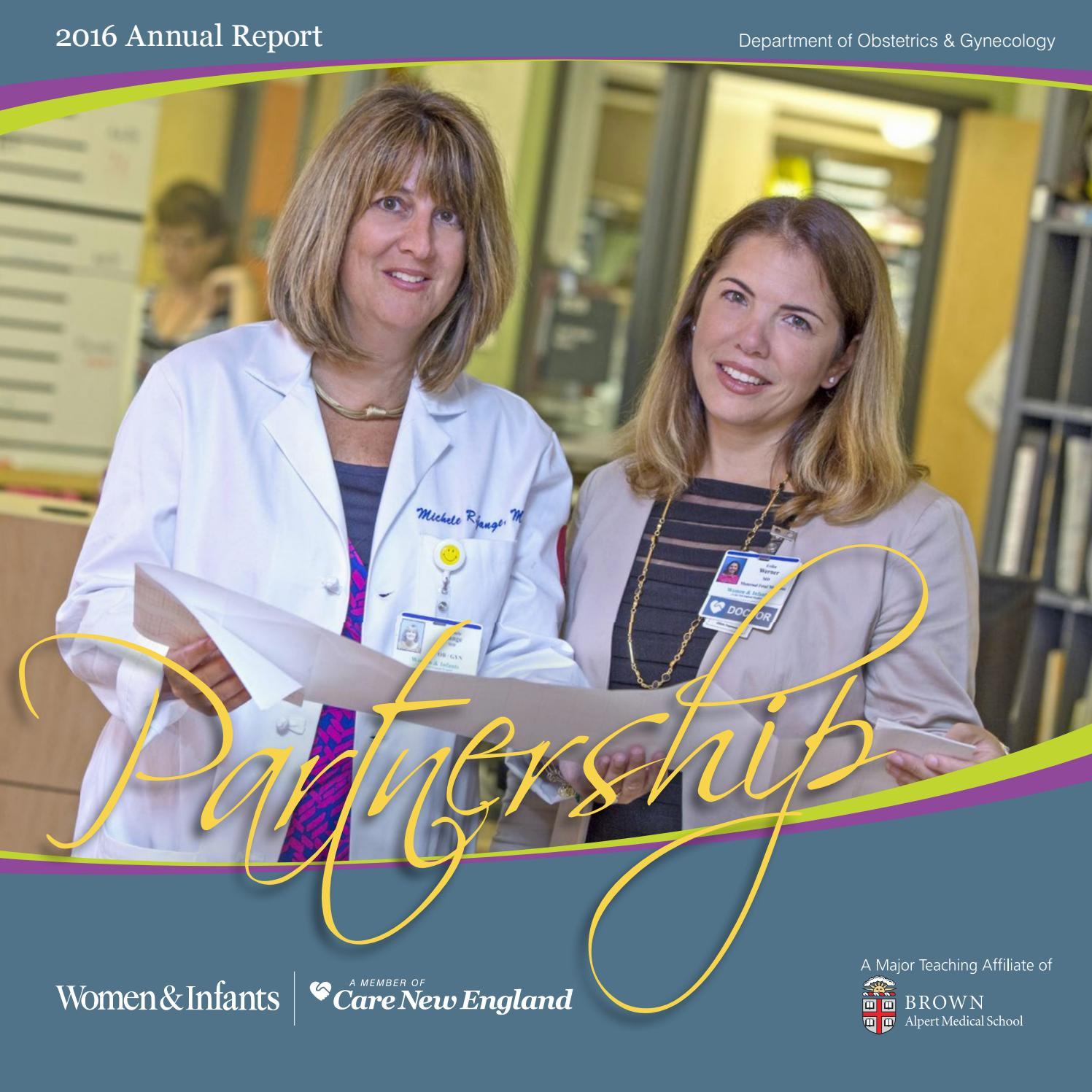 Ob/Gyn Annual Report 2016 by Women & Infants Hospital of