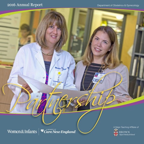 Ob/Gyn Annual Report 2016 by Women & Infants Hospital of Rhode