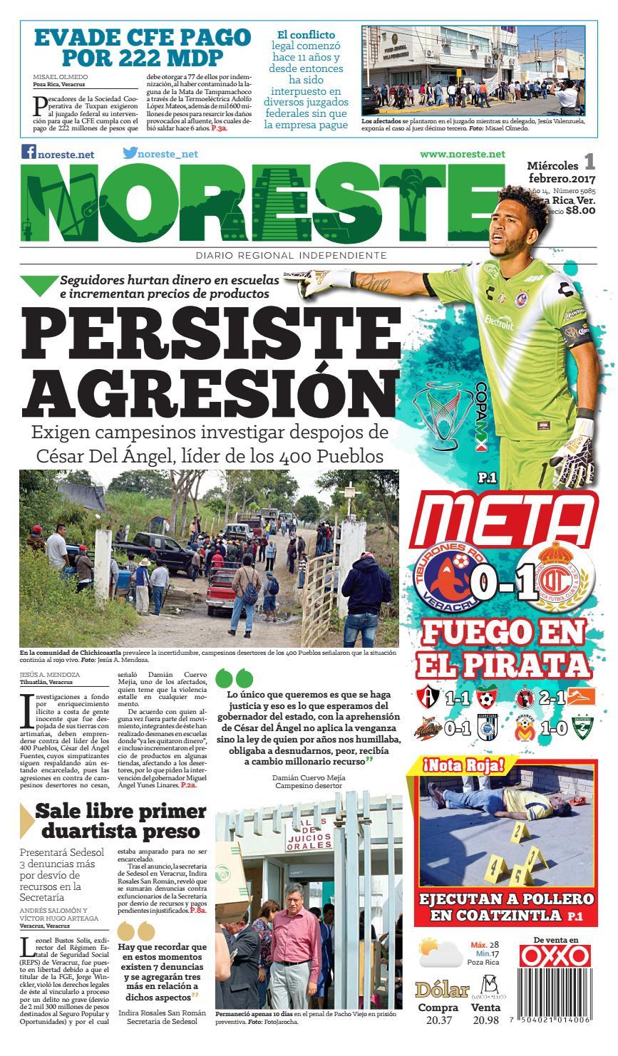Versi N Impresa 1 De Febrero 2017 By Noreste Diario Regional  # Muebles Metalicos Juquila