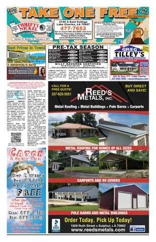 February 2, 2017 Edition of the Lake Charles Thrifty Nickel by ... on rio mobile homes, skyco mobile homes, rose mobile homes, old model mobile homes, victory mobile homes, quadruple wide mobile homes, clayton triple wide mobile homes, plus homes mobile homes,