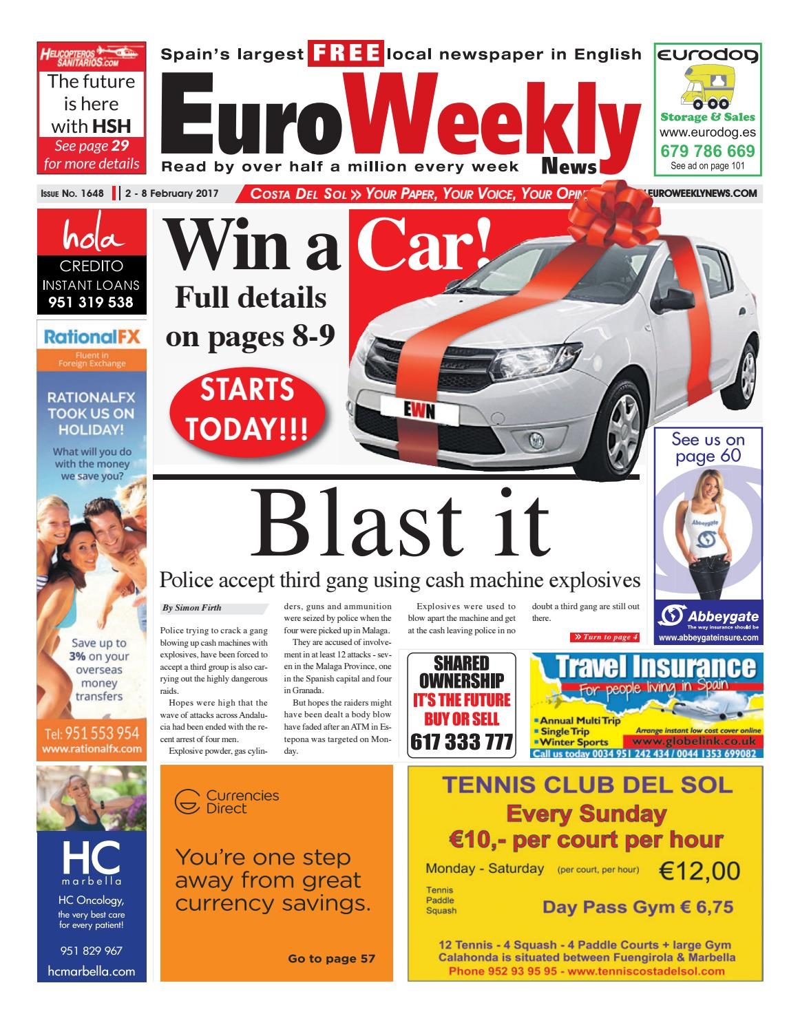 Euro weekly news costa del sol 2 8 february 2017 issue 1648 by euro weekly news costa del sol 2 8 february 2017 issue 1648 by euro weekly news media sa issuu fandeluxe Image collections