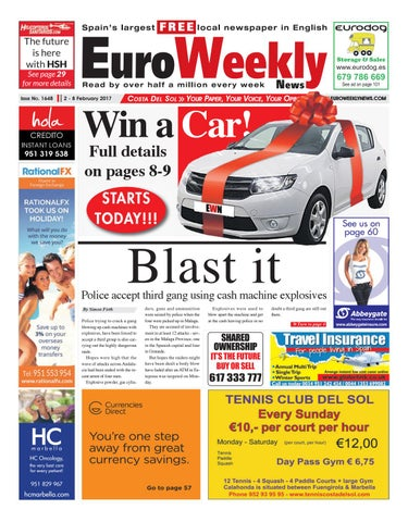 Euro weekly news costa del sol 2 8 february 2017 issue 1648 by page 1 fandeluxe Images