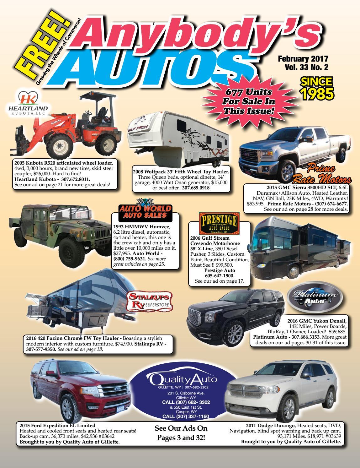 February 2017 by Anybodys Autos - issuu