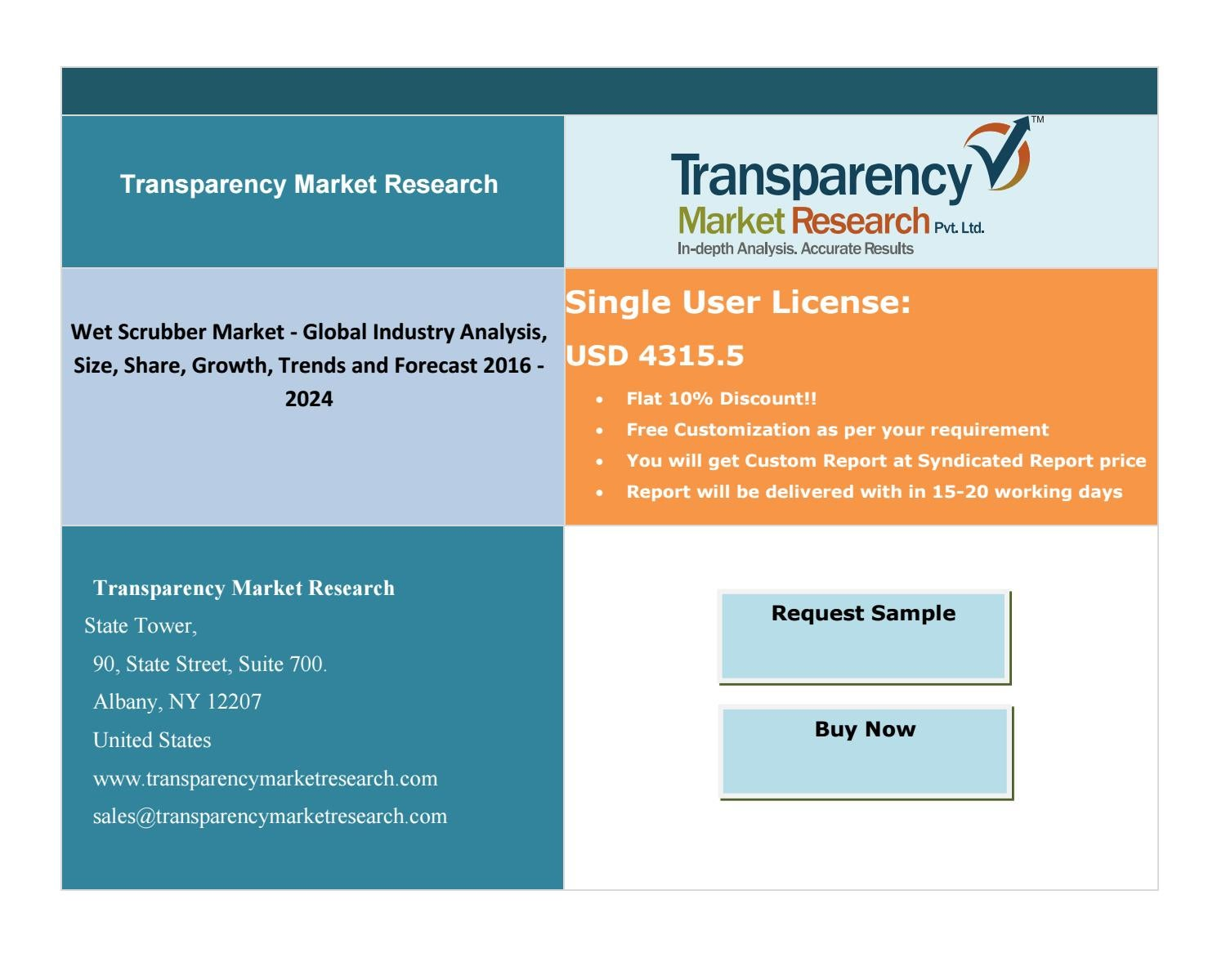 Wet Scrubber Market - Global Industry Analysis, Size, Share