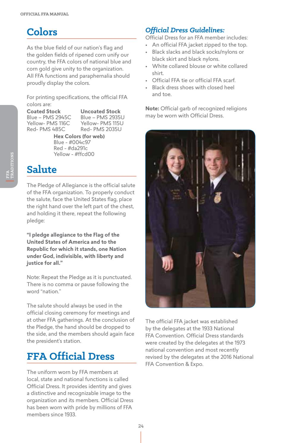 2016 Official Ffa Manual By National Ffa Organization Issuu